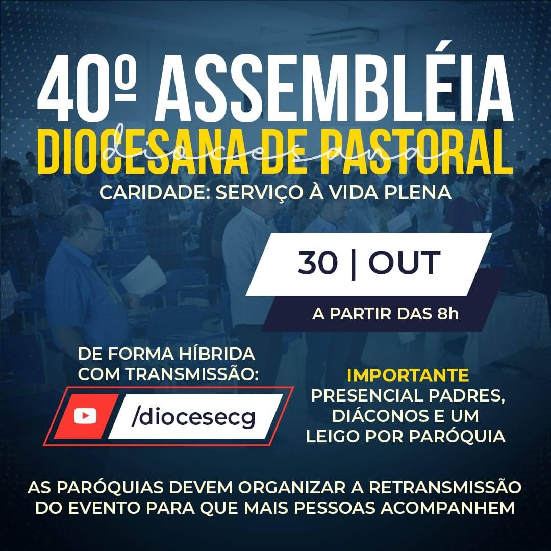 Vem aí a 40ª Assembleia Diocesana de Pastoral